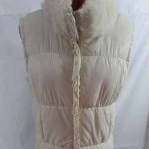 New York and Company Puffer Vest With Fur